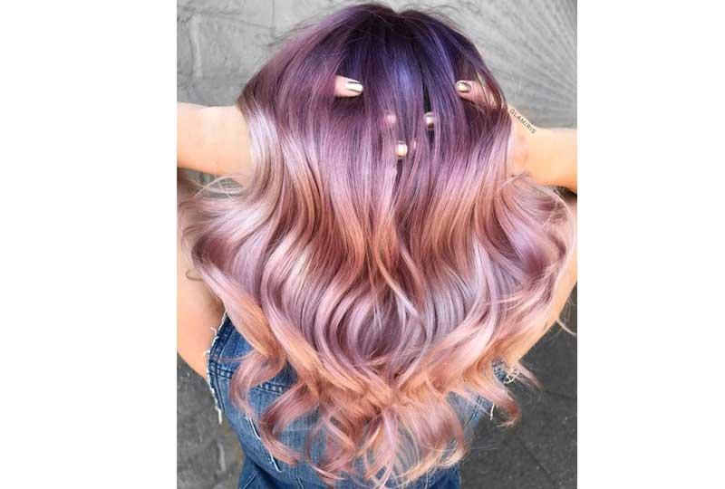 ألوان صبغات الشعر اللونه البنفسجي