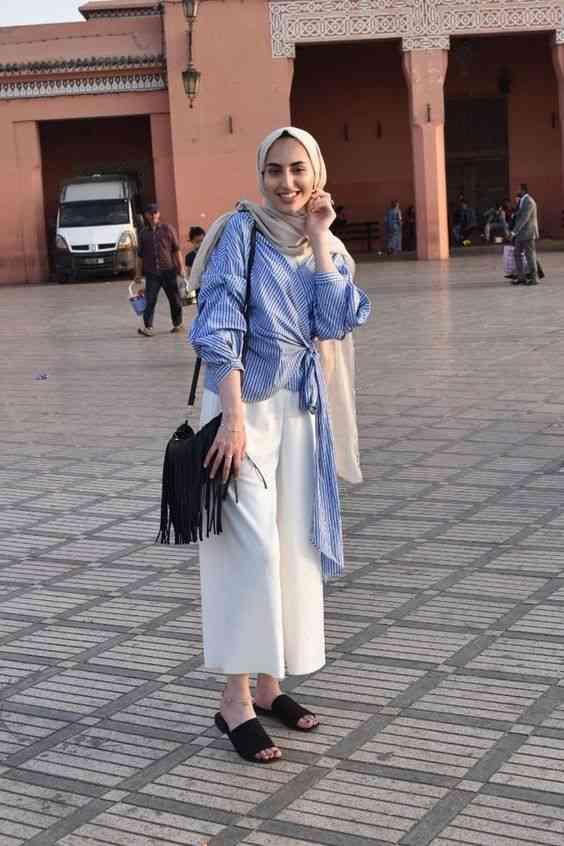 ملابس محجبات كاجوال بالبنطلون الواسع