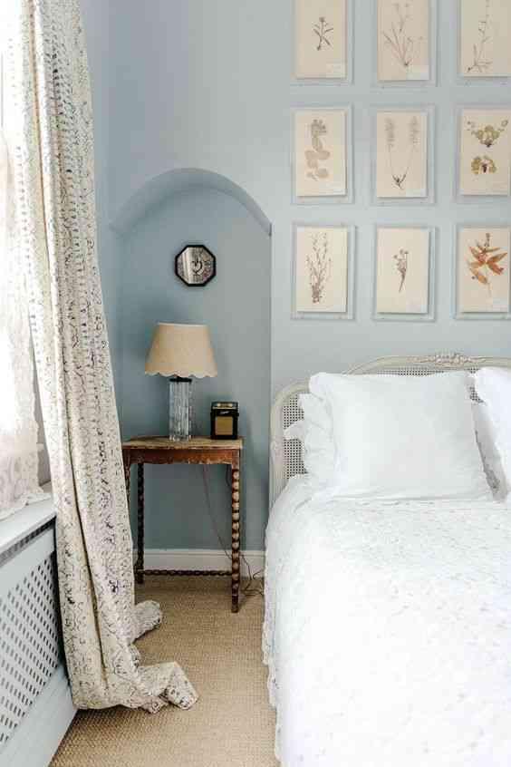 درجات اللون الأزرق لغرفة النوم