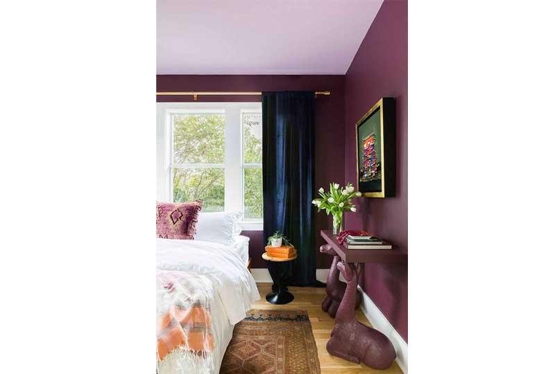 ألوان غرف نوم باللون الموف