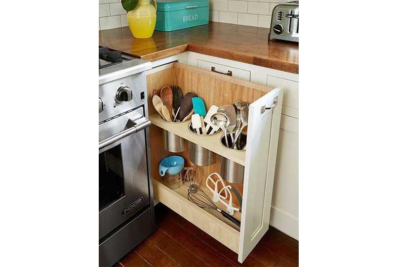 أفكار لترتيب المطبخ باستخدام الأدراج المقسمة من الداخل