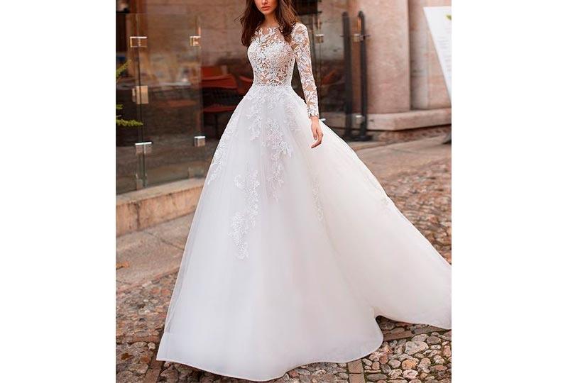 فستان فرح منفوش واسع