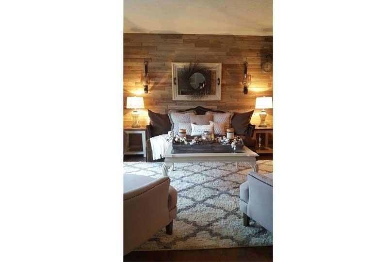 ديكورات حوائط خشبية لغرفة الصالون
