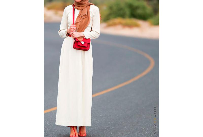 فستان أبيض محجبات