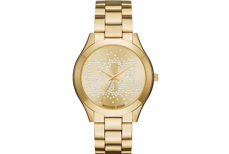 ساعة مايكل كورس باللون الذهبي