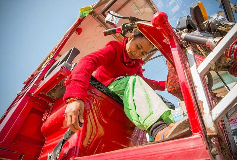 سيارة كهربائية في نيبال