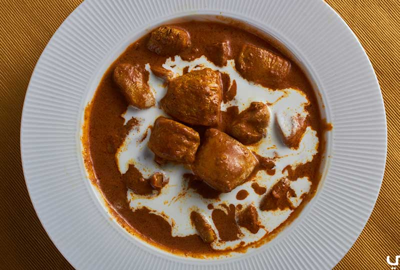 دجاج هندي بالزبدة