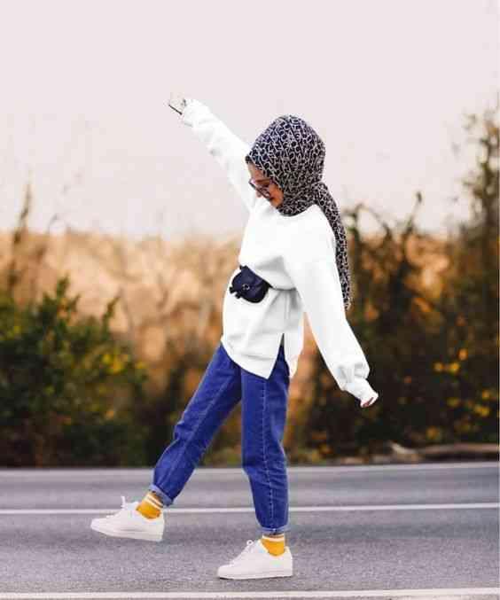 أزياء محجبات تركية بنطلون جينز