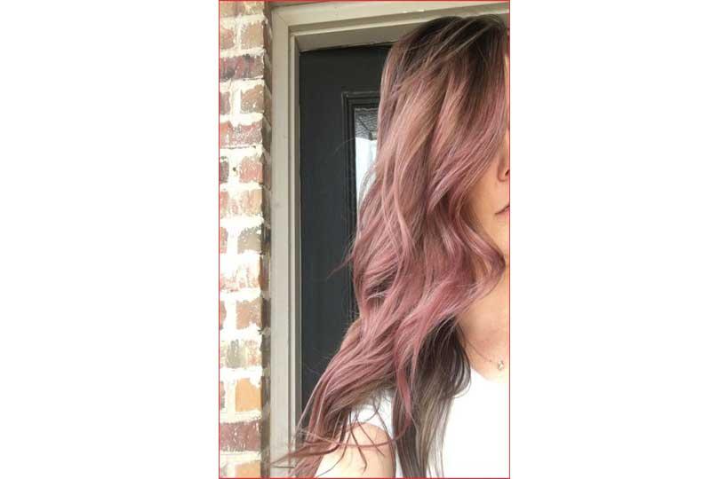 ألوان صبغات الشعر الزهري الترابي للشعر المموج