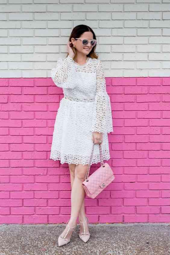 أنواع الفساتين Bell Sleeve Dress