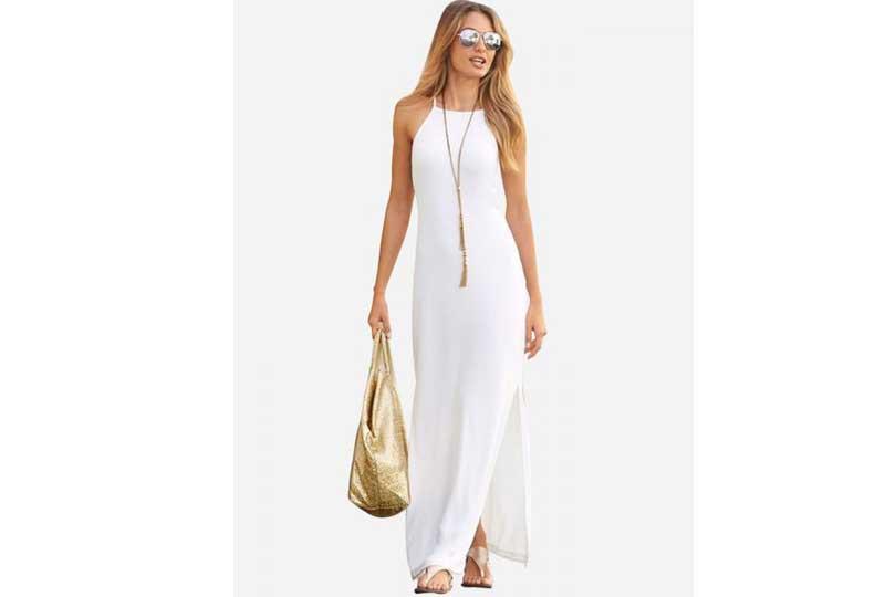 فستان أبيض للبحر