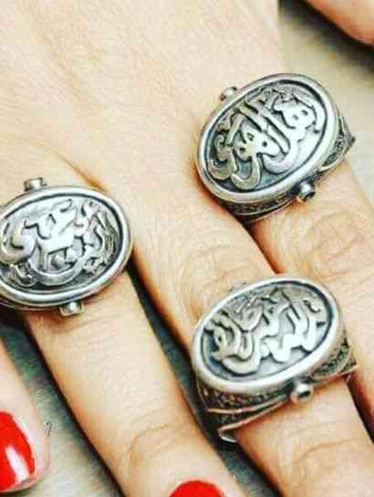 خواتم فضة بالخط العربي