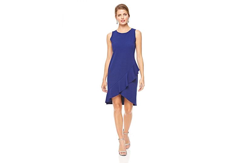 فستان كاجوال أزرق قصير