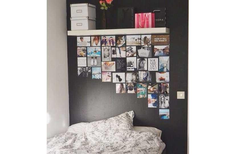 استغلال الحوائط في غرف النوم الصغيرة