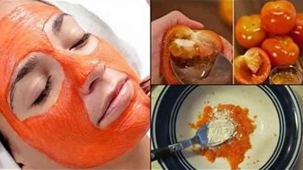ماسك الطماطم لنضارة البشرة