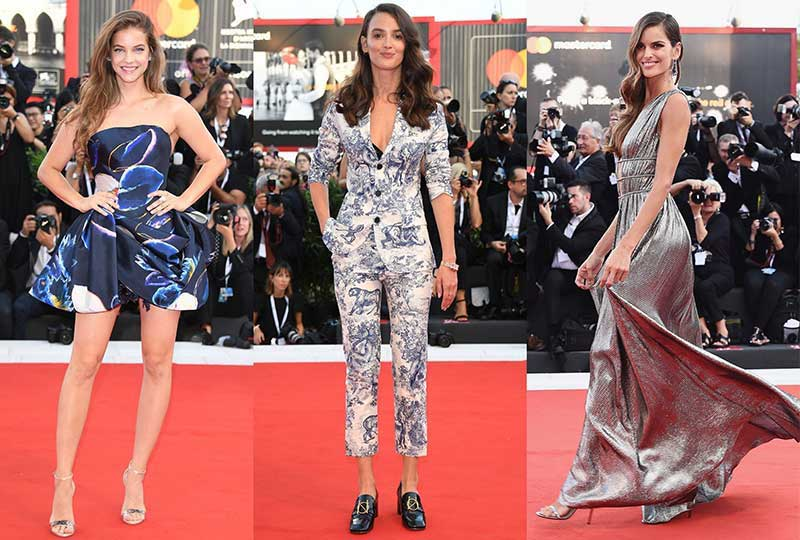 إطلالات بفساتين مميزة في مهرجان فينيسيا 2018