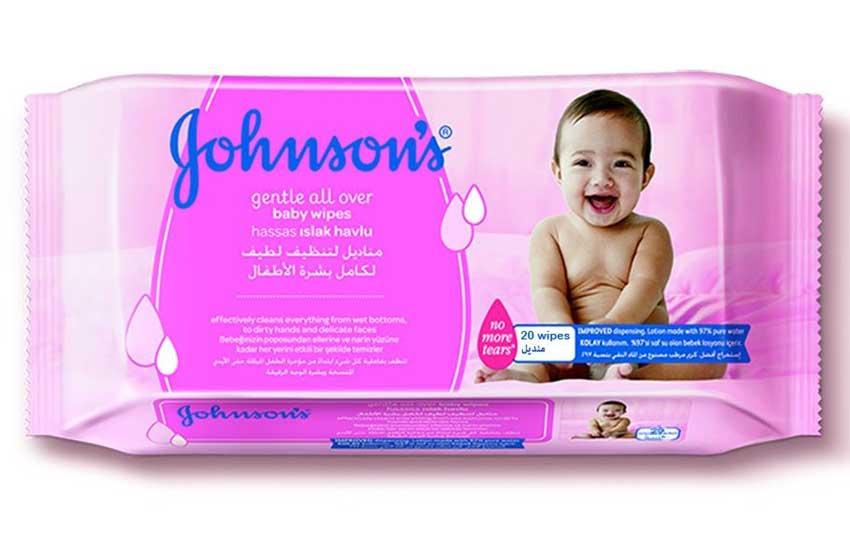 مناديل جونسون المبللة للأطفال