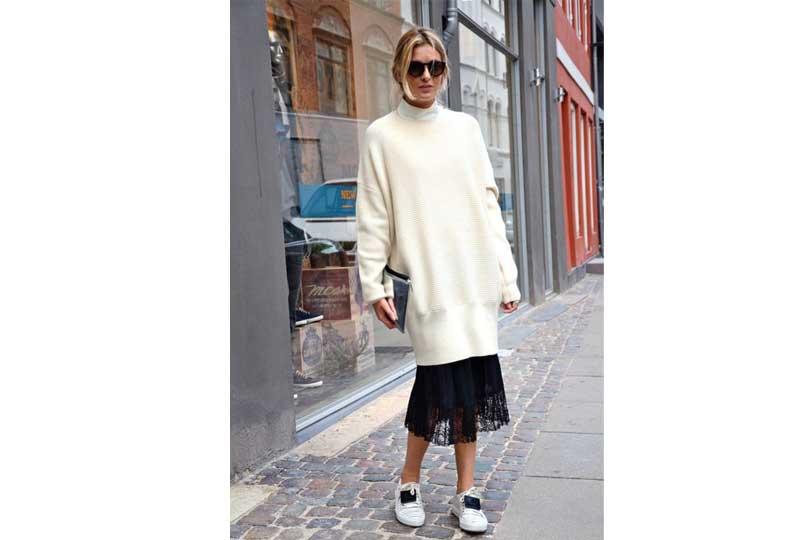 ملابس شتوية حذاء البلوفر الفضفاض