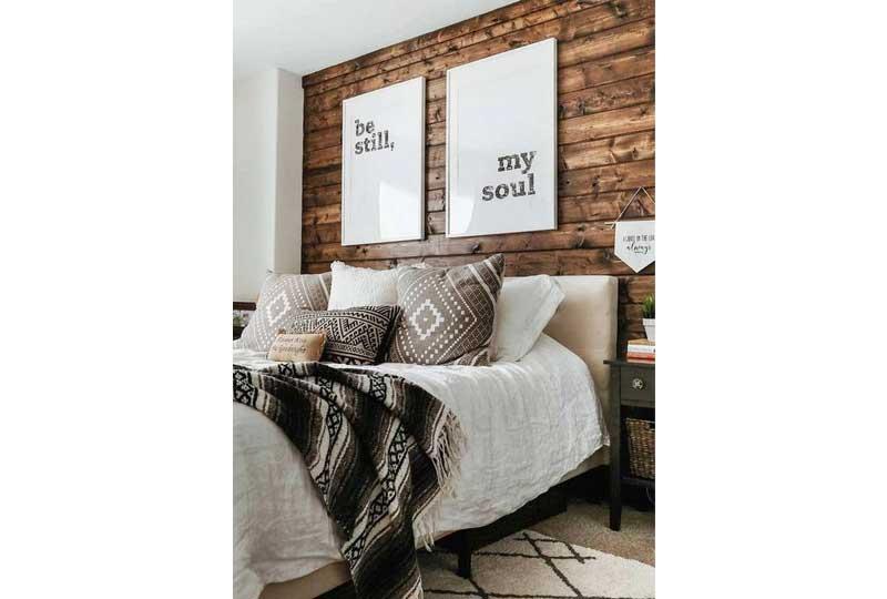 ديكورات حوائط خشبية لغرفة النوم