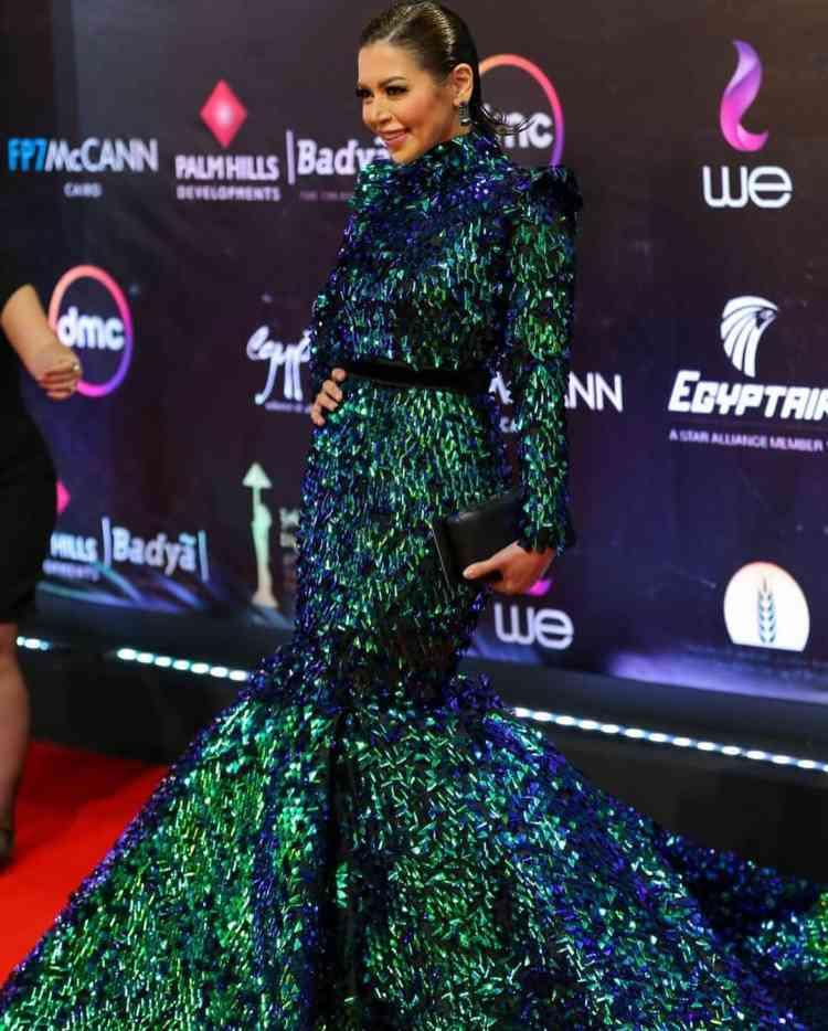 فستان لقاء الخميسي في مهرجان القاهرة السينمائي 2019