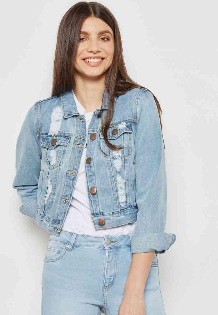 جات جينز قصير للمحجبات