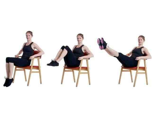 تمارين الكرسي لشد الأفخاذ
