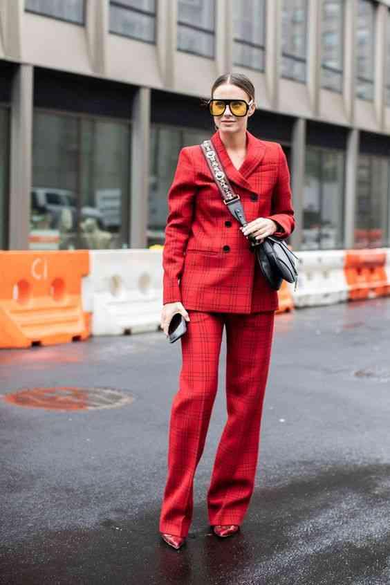 بليزر بدلة نسائية أحمر
