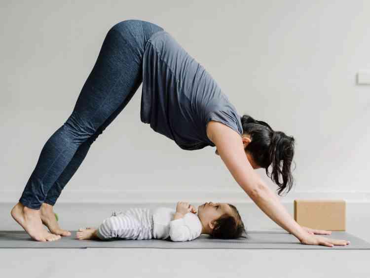 تمرين للبطن بعد الولادة