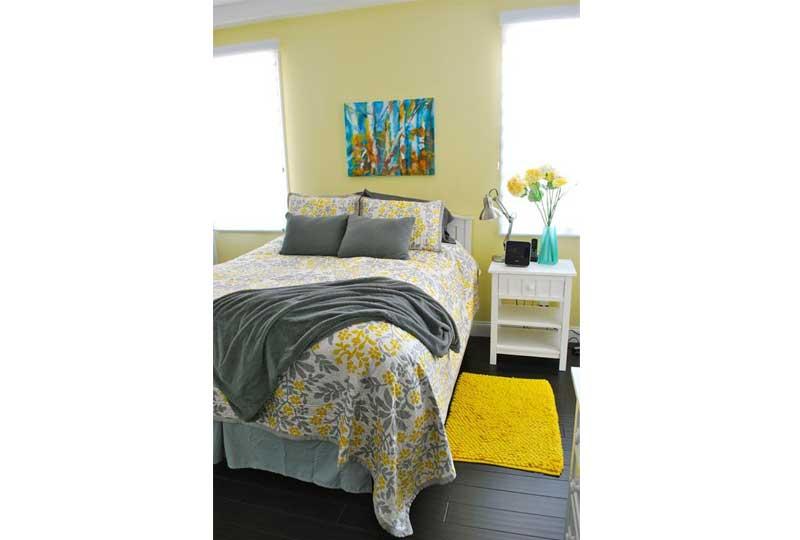 ألوان غرف نوم باللون الأصفر