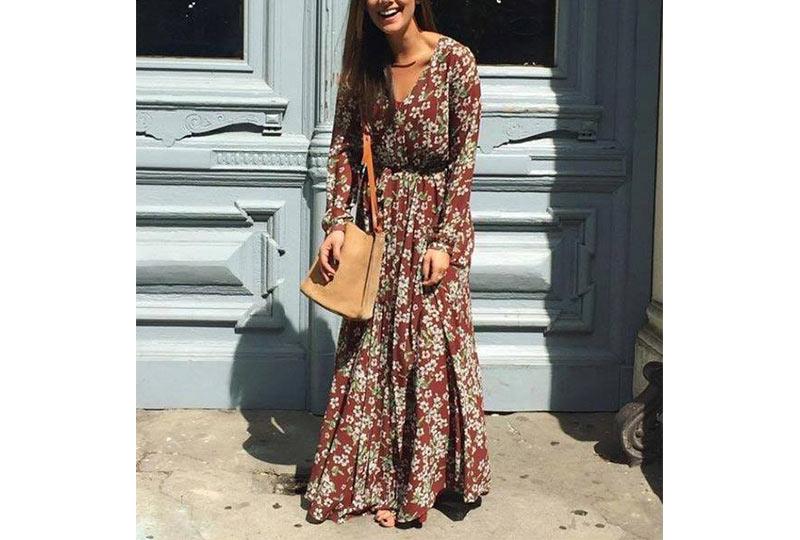 فستان شيفون كاجوال