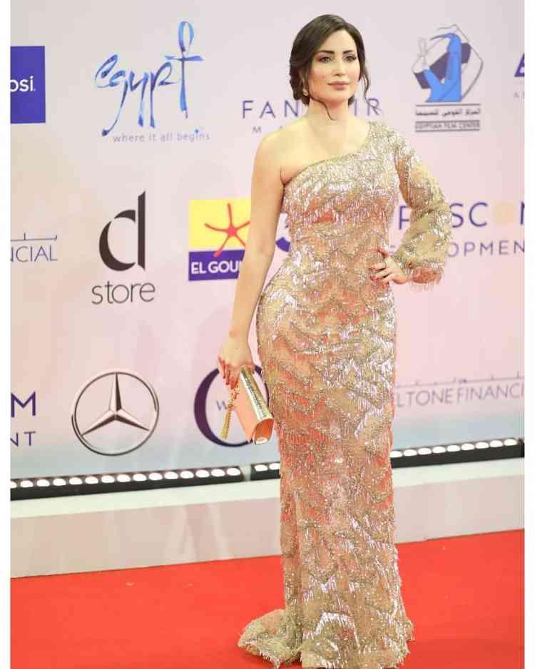 فستان نسرين طافش من مهرجان الجونة 2019