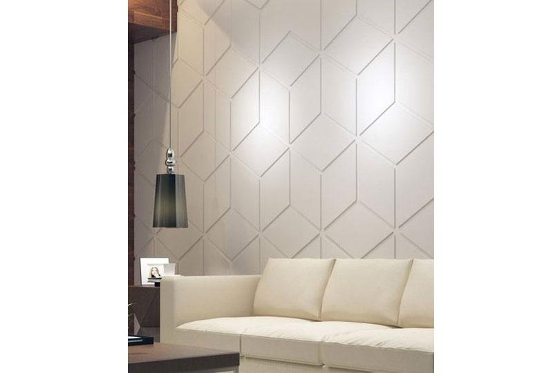 ديكورات حوائط ثلاثية الأبعاد باللون الأبيض