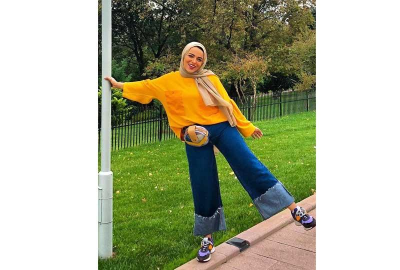 ملابس كاجوال للعيد إطلالة كاجوال للمحجبات