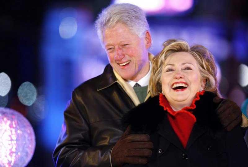 هيلاري كلينتون وزوجها