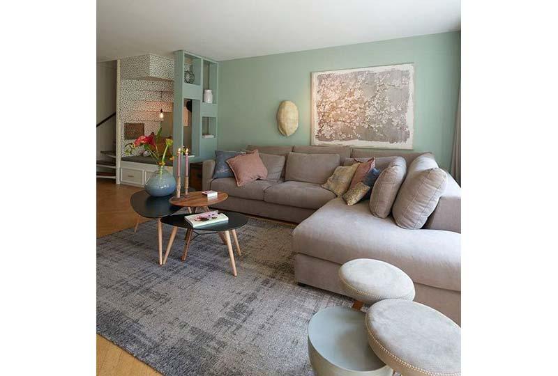 غرفة معيشة رمادي