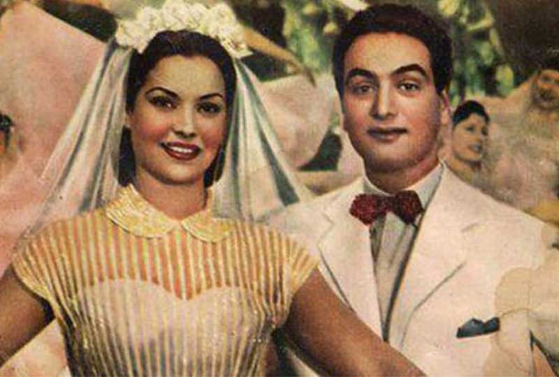 زواج محمد فوزي ومديحة يسري