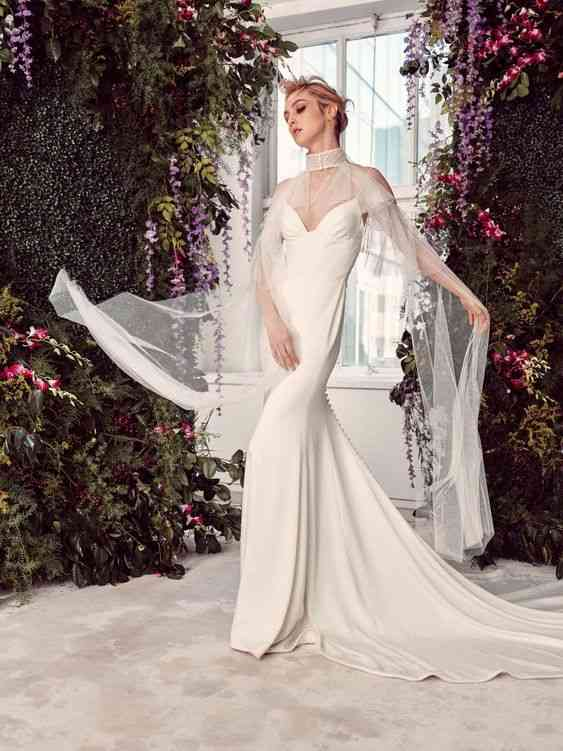 فساتين زفاف 2020 بكاب شيفون