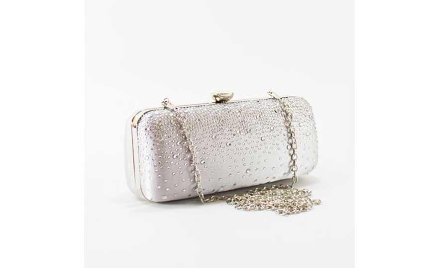حقيبة المناسبات - حقيبة فضية من مستر جو