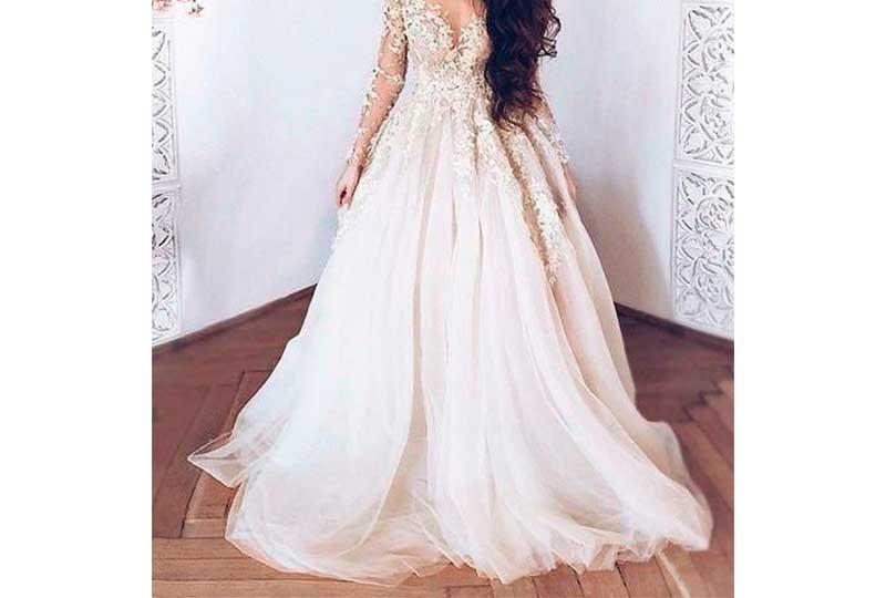 فستان فرح محجبات ورد
