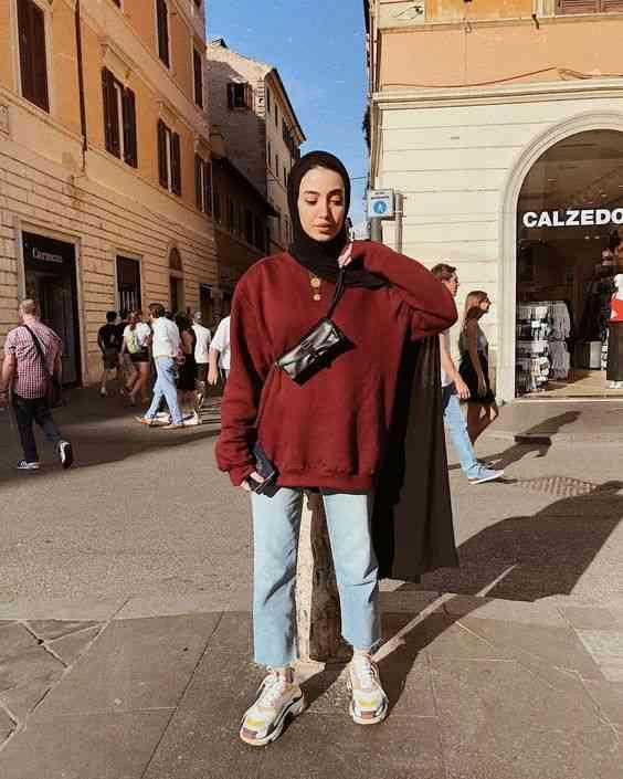 ملابس محجبات كاجوال للجامعة عملية