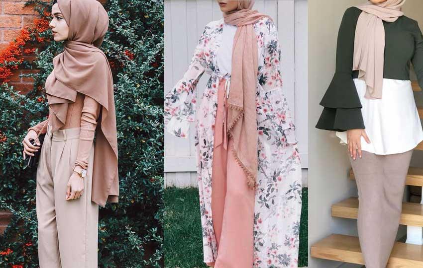 تنسيق الألوان في ملابس المحجبات