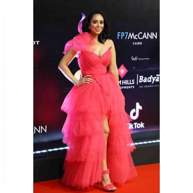 فستان بسنت شوقي في مهرجان القاهرة السينمائي 2019