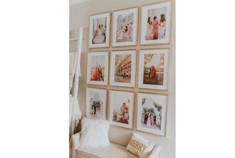 ديكورات حوائط بالبراويز والصور