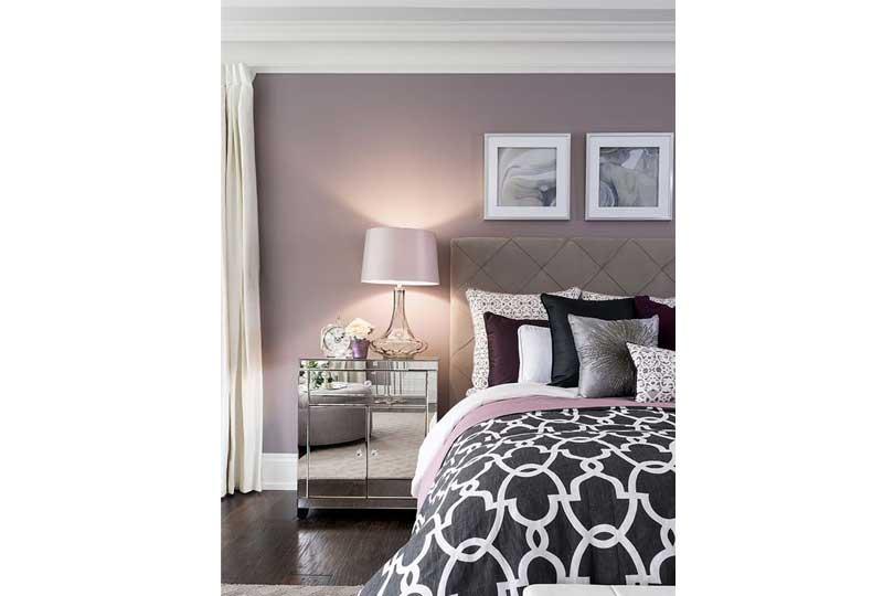ألوان غرف نوم باللون الموف الفاتح