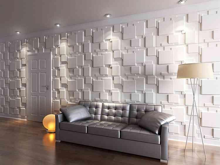 ورق حائط أبيض مجسم