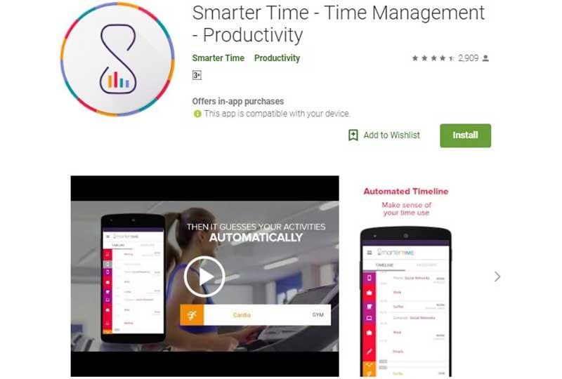 تطبيق smarter time
