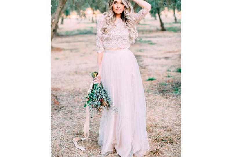 فستان زفاف منفصل