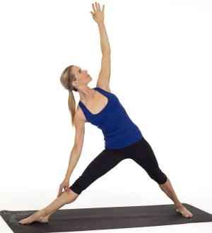 تمارين اليوجا وضعية المثلث