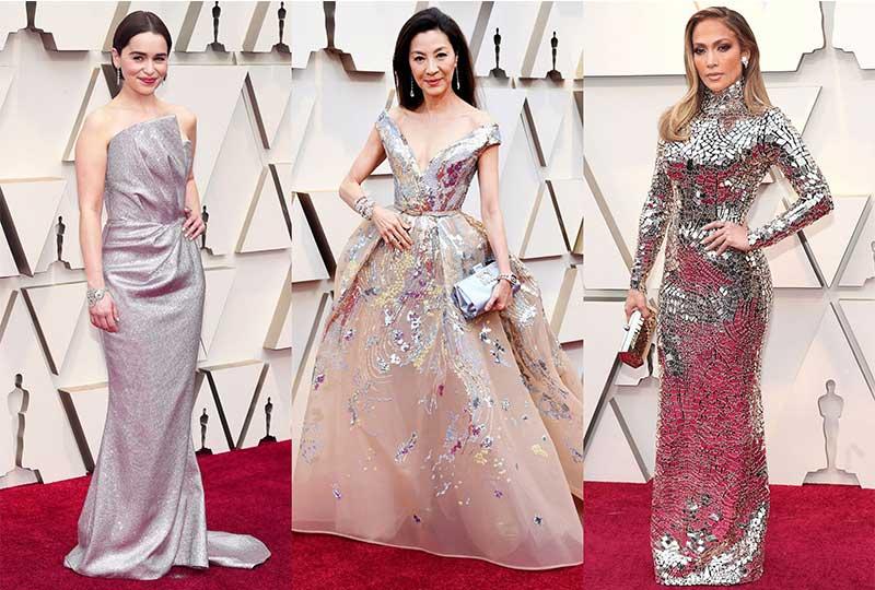 فساتين الأوسكار 2019 باللون الميتاليك