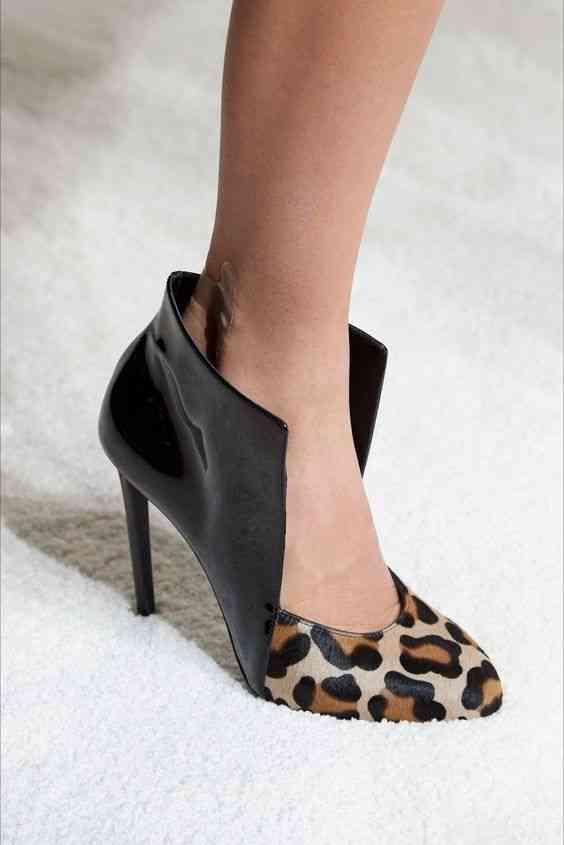 أحذية شتاء 2020 حذاء مطبوع بجلد النمر